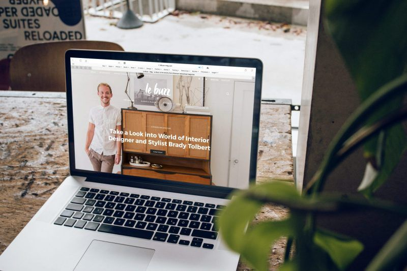 moderne website op laptop