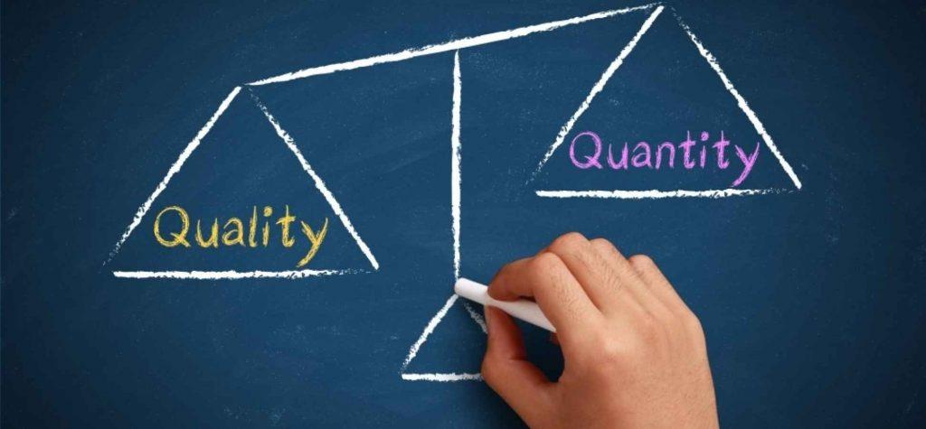 kwaliteit boven kwaniteit seo